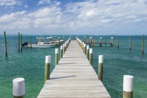 long dock with boat in abaco