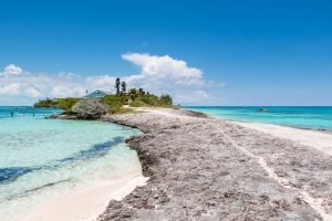 strip of land surrounded by water both sides in abaco