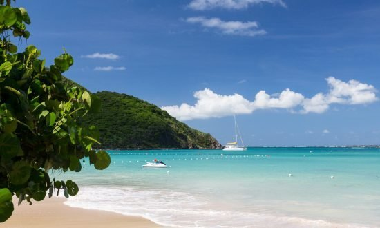 anse marcel beach in st martin