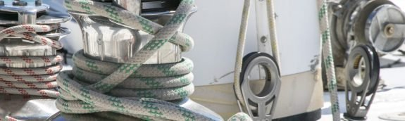 ropes and sails for the boat