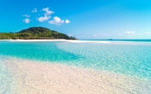 clear blue water at the beach in australia
