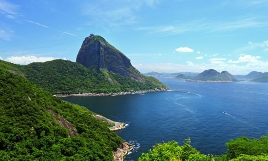 an oceanside mountain vista in brazil