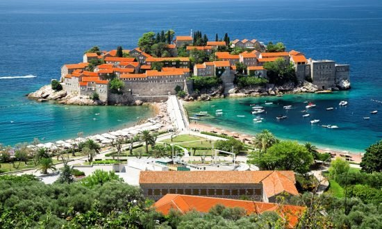 sveti stefan montenegro houses and coastline