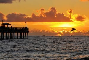 pier at sunset in fort lauderdale
