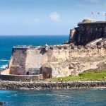 Fort looking out into the water in Puerto Rico