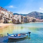 authentic houses and buildings on the shore of sicily