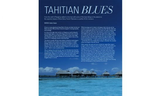 screenshot of article tahiti blues