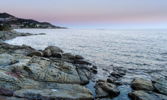 Rocky shore and water in Spain