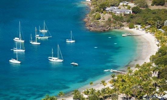 sailboats approaching little beach of english harbor antigua