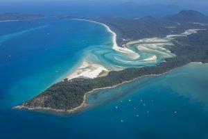 Aerial View of whitsunday islands of Queensland Australia
