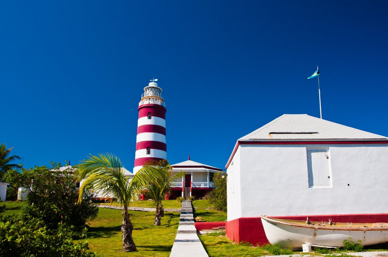 Lighthouse of Elbow Cay in Abaco Bahamas