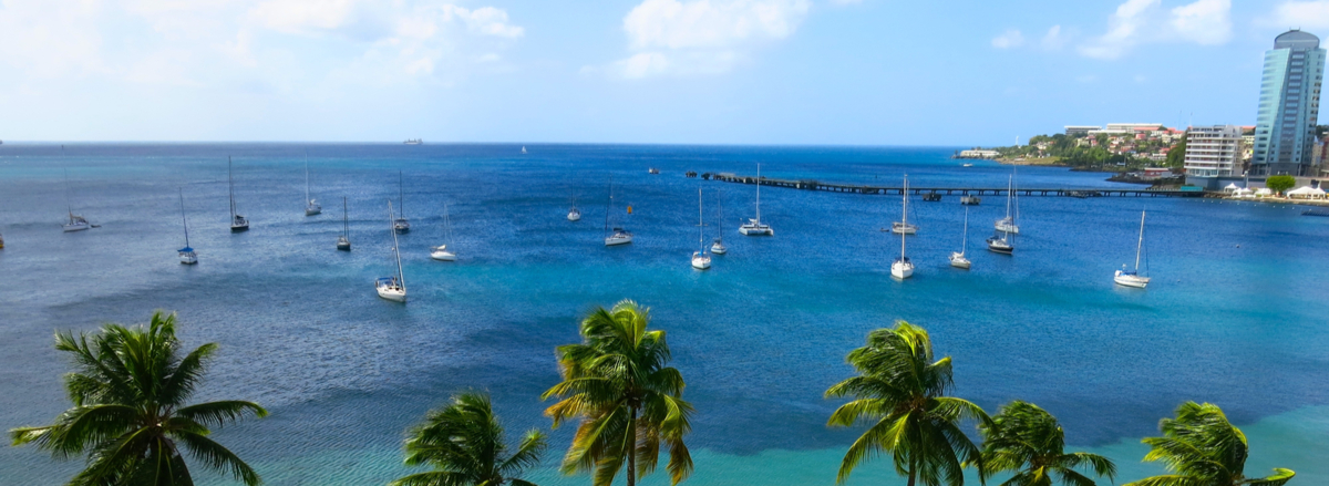 Island of Martinique in the Caribbean