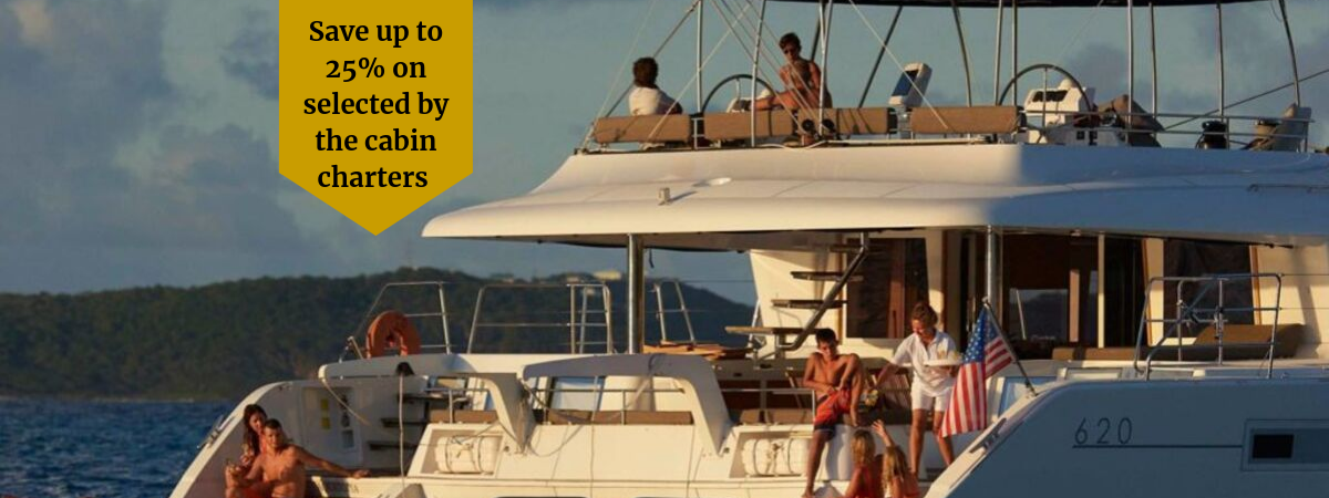 Save up to 25% on by the cabin charters