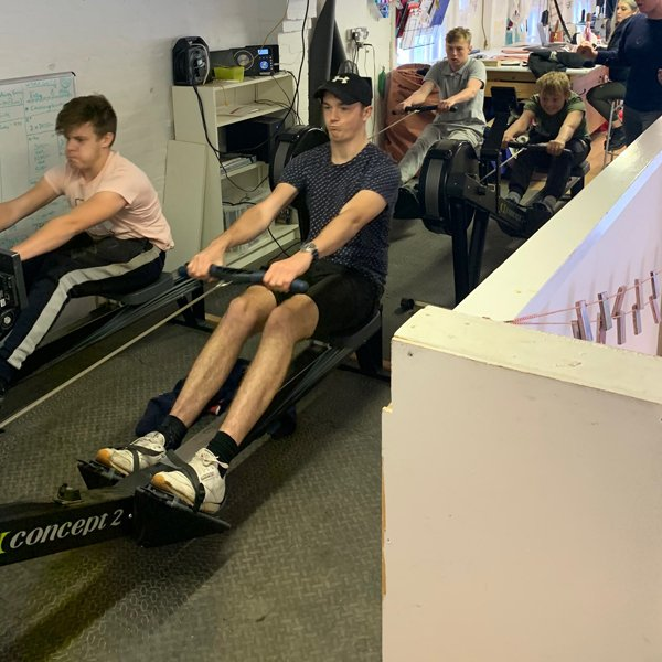 Indoor rowing at Oarsome Chance