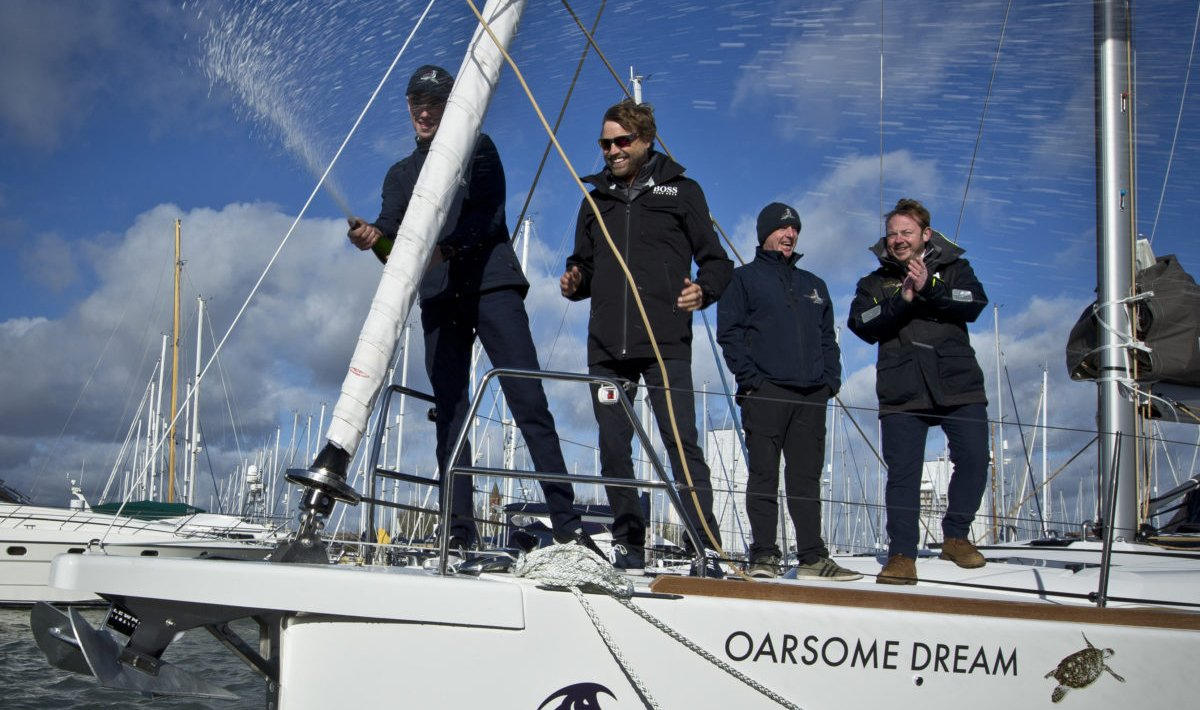 Solo Sailor names yacht for Oarsome Chance Charity