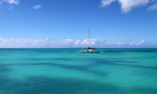 yacht turquoise water
