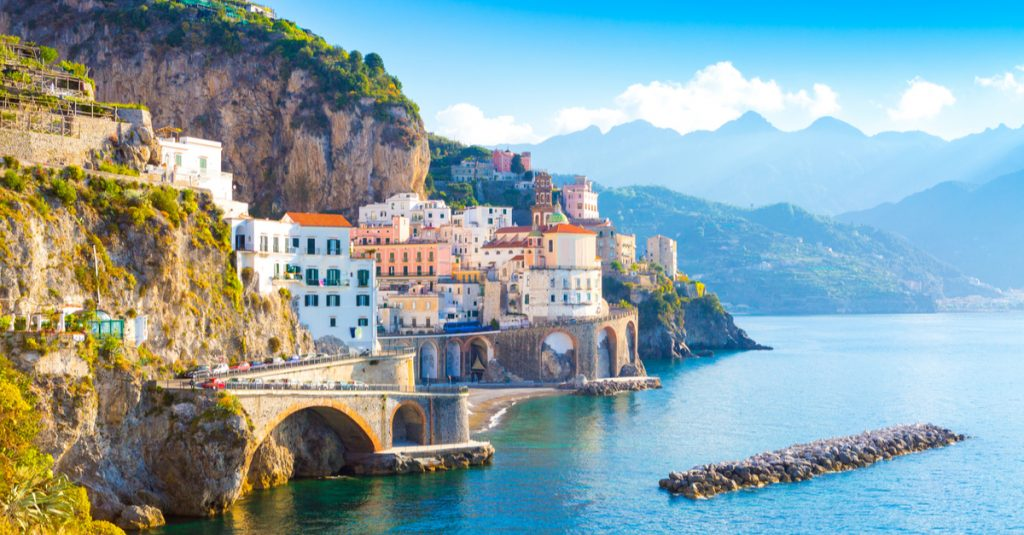By the cabin yacht charter route in Italy