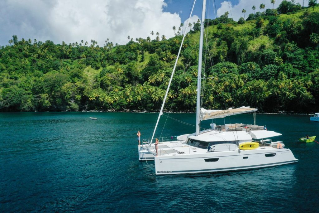 Yacht in the Grenadines